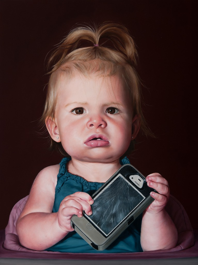 Baby with a Dead Phone copyright Katie Miller 2014
