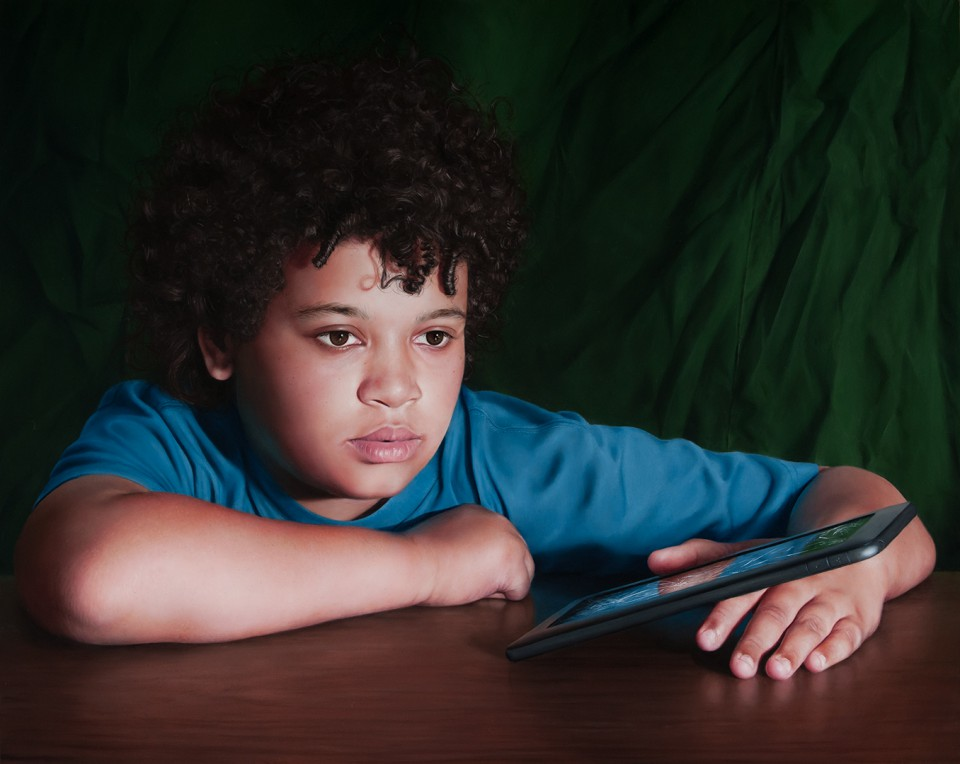 Boy with a Dead Tablet