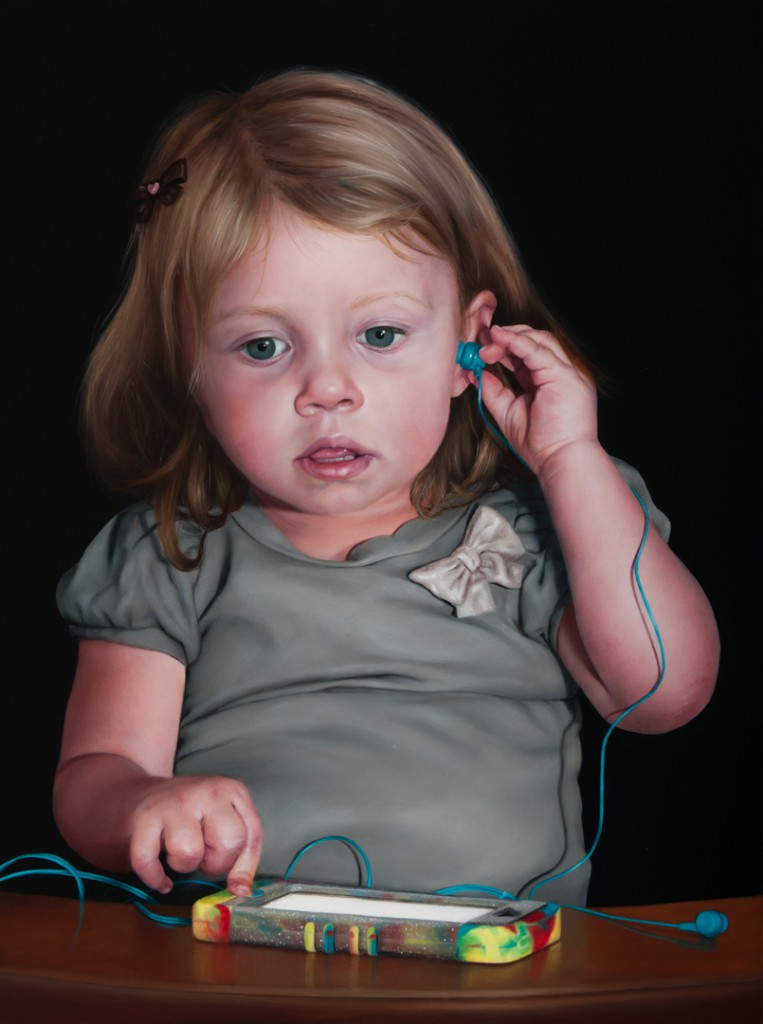 Girl with a Silent Phone copyright Katie Miller 2014