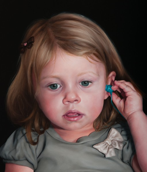 Girl with a Silent Phone (detail)