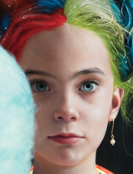 A Girl with Bright Colored Hair (detail)