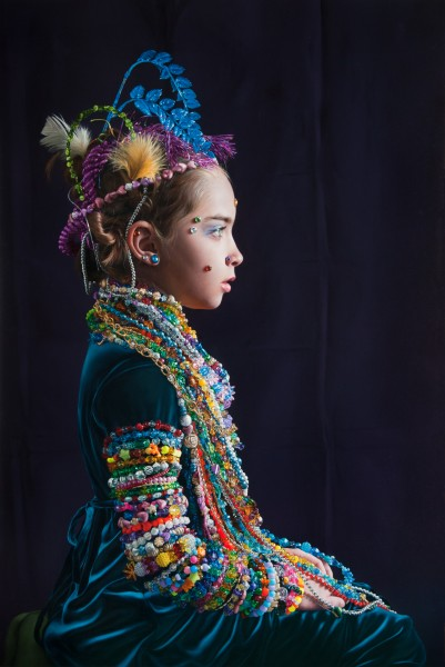 A Young Lady Adorned with Beads