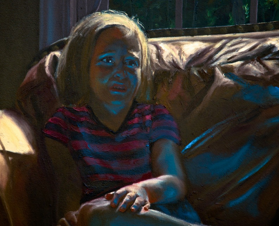 Children watching TV (detail)