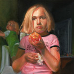 Girl with a Peach (detail)