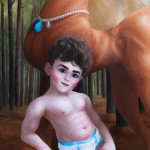 Little Boy Blue and His Comely Cremello (detail)