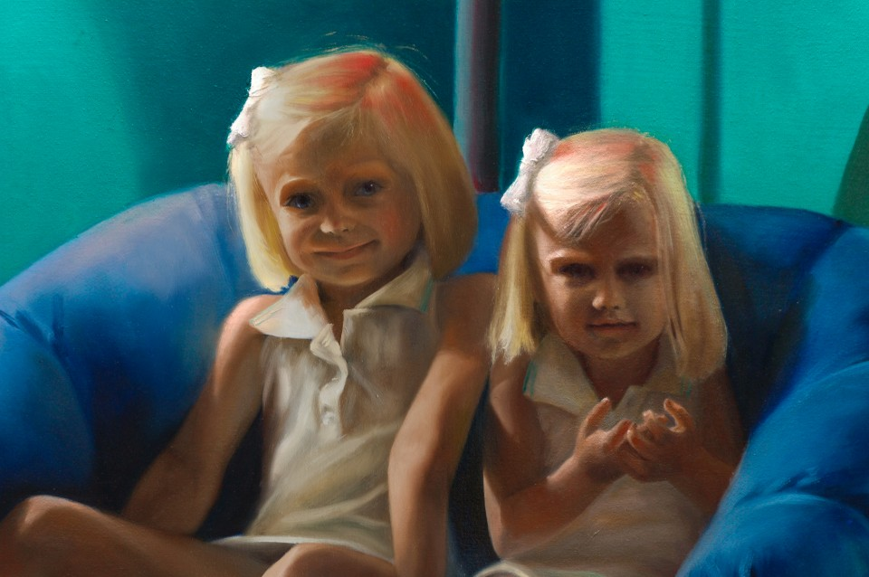 Two Little Girls in a Room (detail)