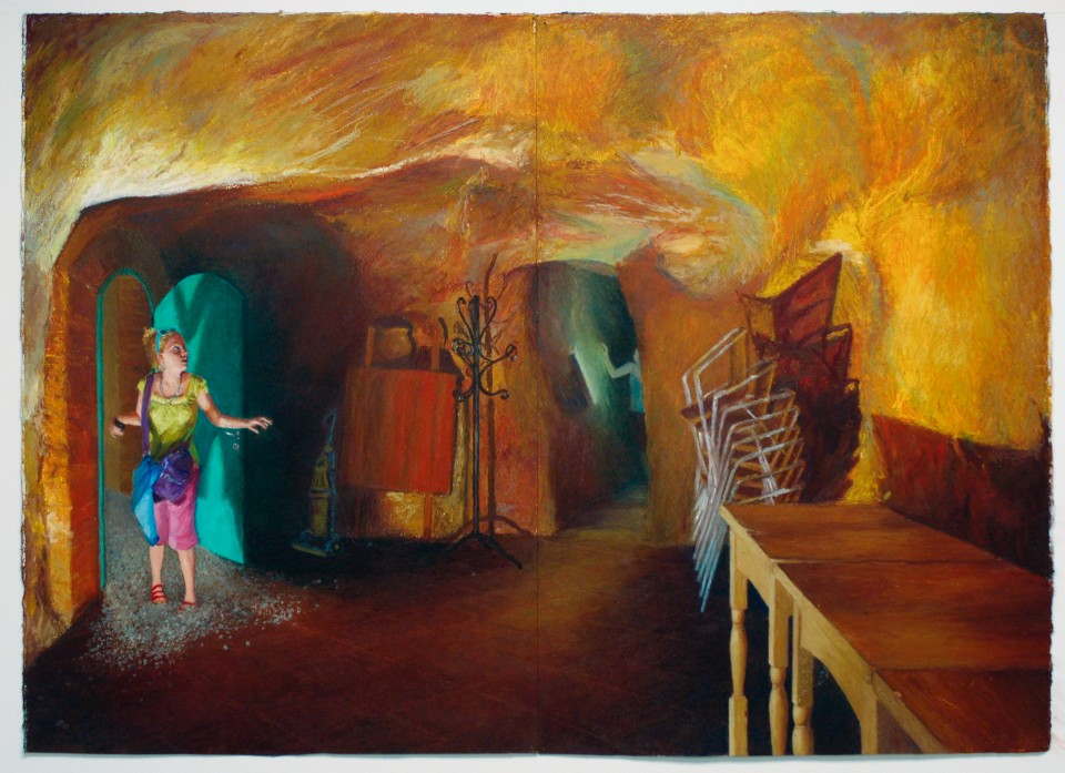 Young Women in a Cave