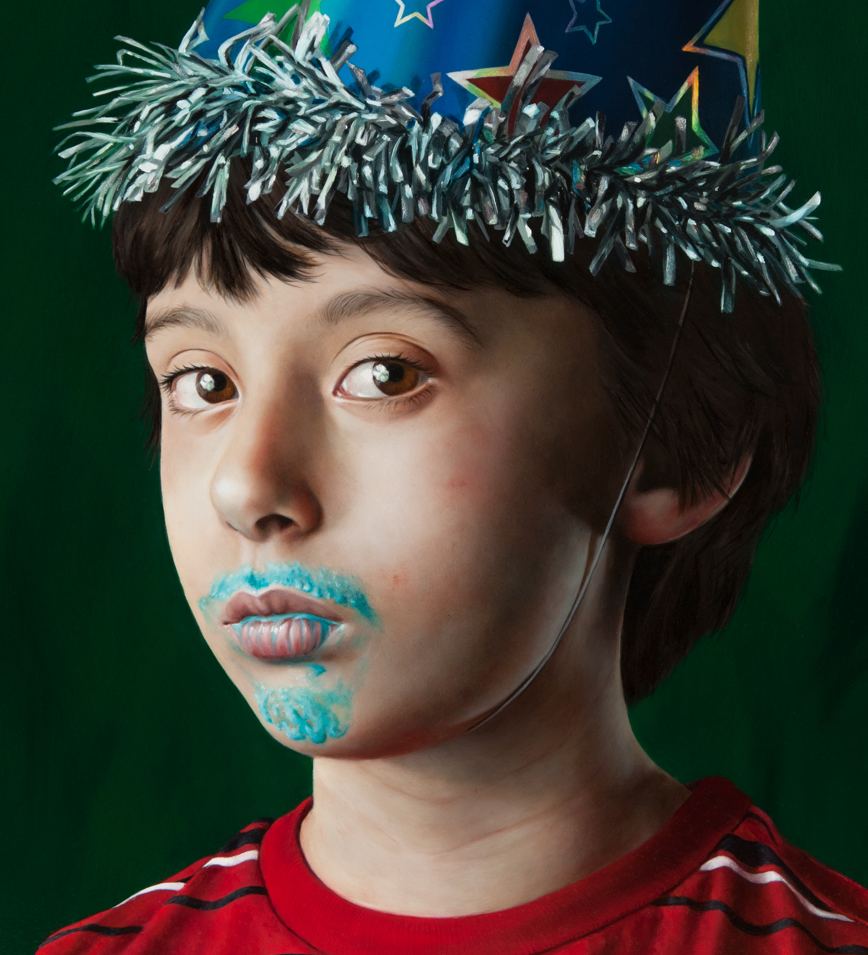 Youth in a Party Hat (detail)