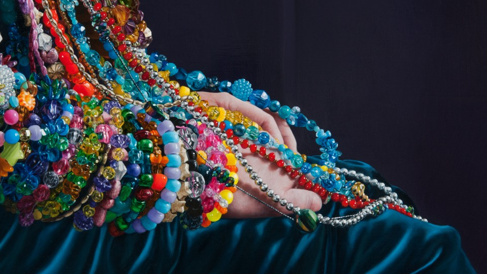 A Young Lady Adorned with Beads (detail)